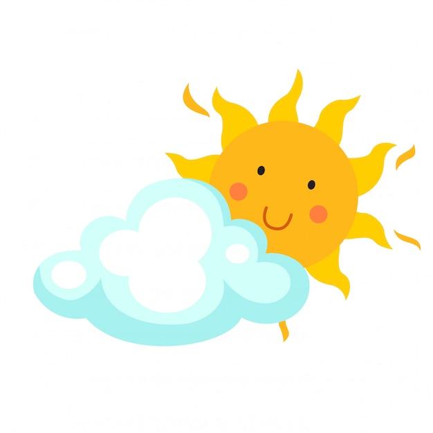 Illustration of sun vector Premium Vector