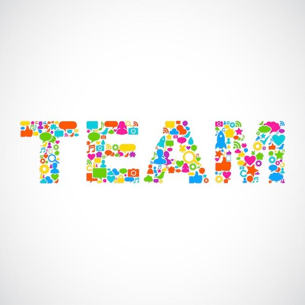 Illustration of teamwork Free Vector