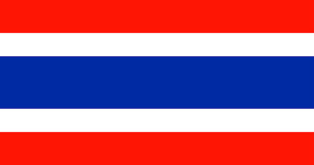 Illustration of thailand flag Free Vector