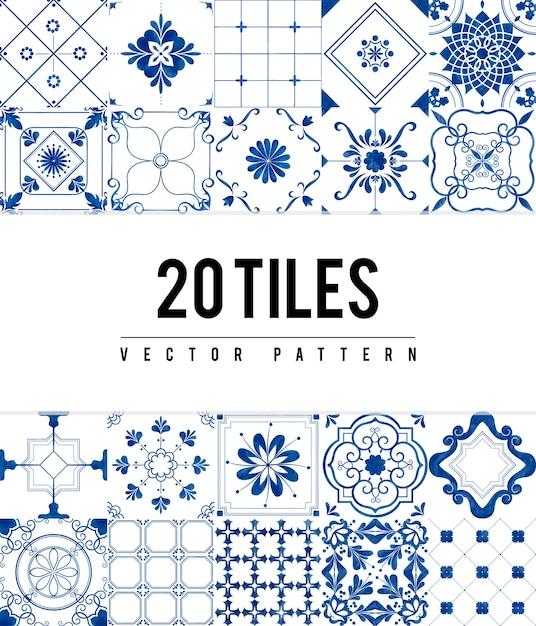 Illustration of tiles textured pattern Free Vector