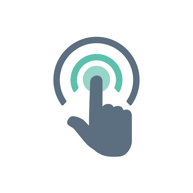 Illustration of touch screen hand gesture Free Vector