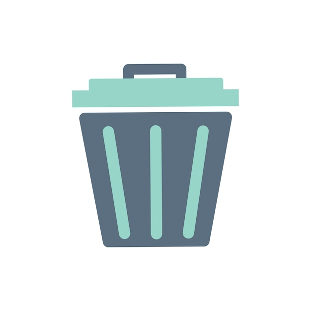 Illustration of trash bin icon Free Vector
