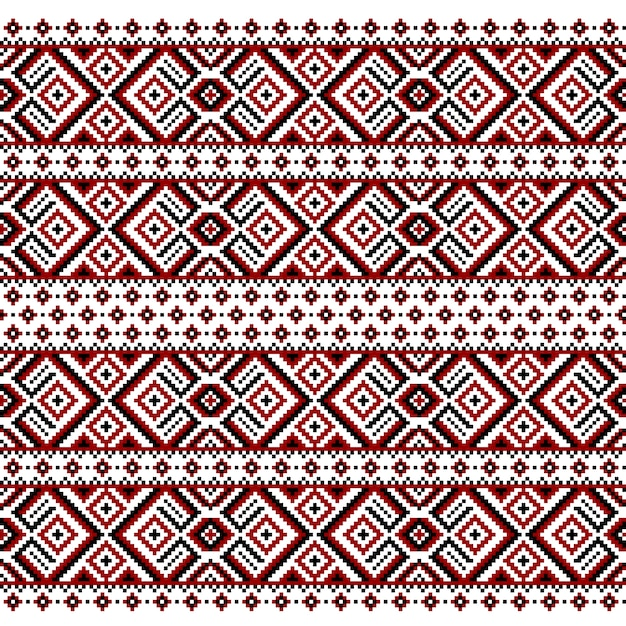 Illustration of ukrainian folk seamless pattern ornament Free Vector