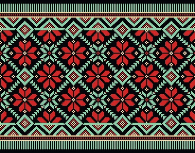 Illustration of ukrainian folk seamless pattern ornament Free Vector