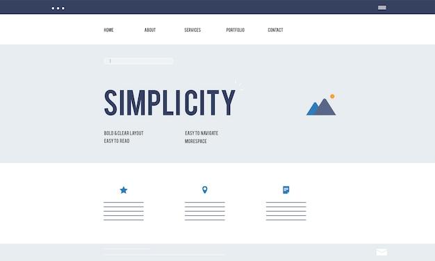 Illustration of web design template Free Vector
