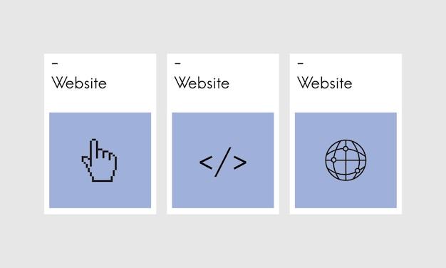 Illustration of web design Free Vector