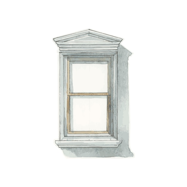 Illustration of window water color style Free Vector