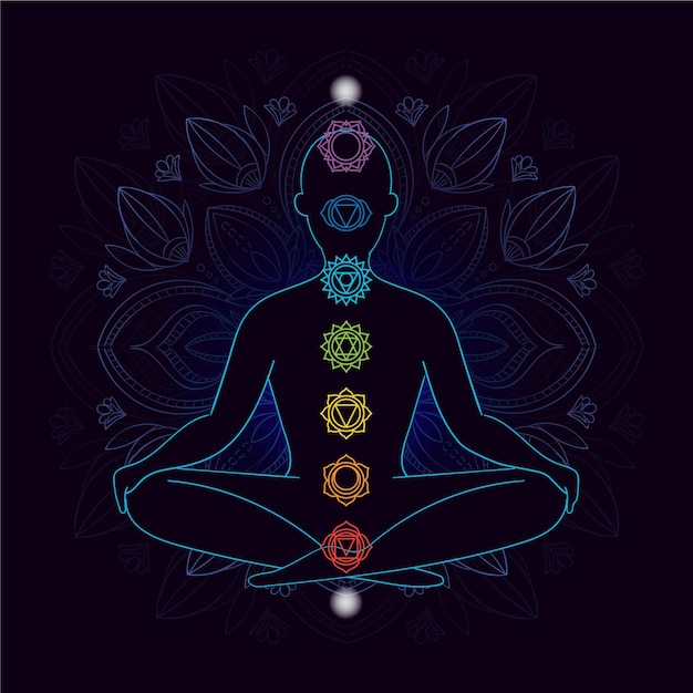 Illustration with chakras Free Vector