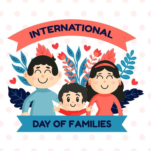 Illustrazione con il giorno internazionale del concetto delle famiglie Vettore gratuito