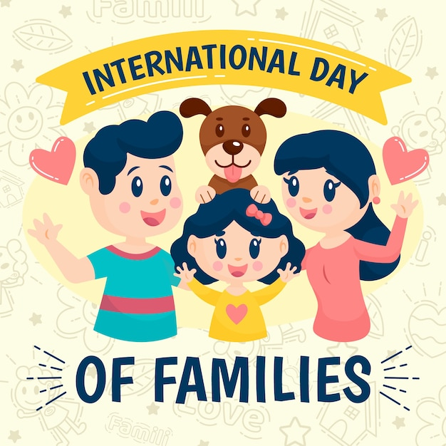 Illustration withinternational day of families theme Free Vector