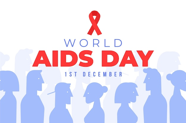 Illustration world aids day concept Free Vector
