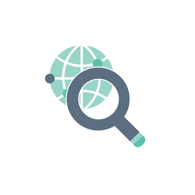 Illustration of worldwide search Free Vector