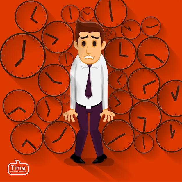 Illustrations concept time managemnet Premium Vector