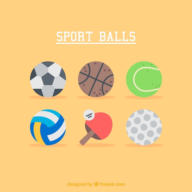 Illustrations of Sport Balls