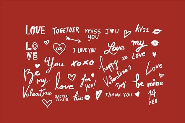 Illustrations of valentine Free Vector