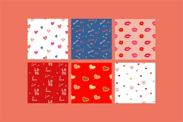 Illustrations of valentine Free Vector