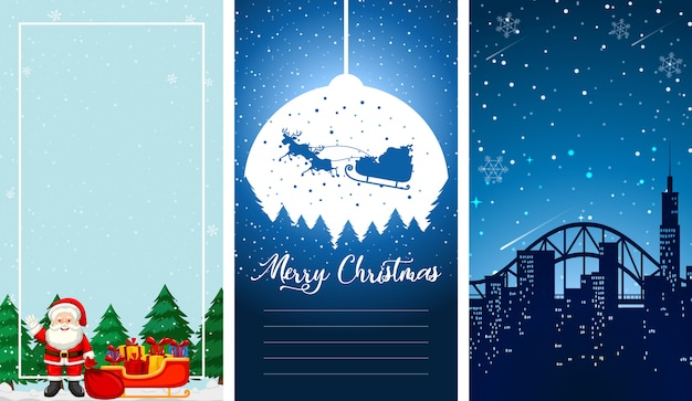 Illustrations with christmas theme Free Vector