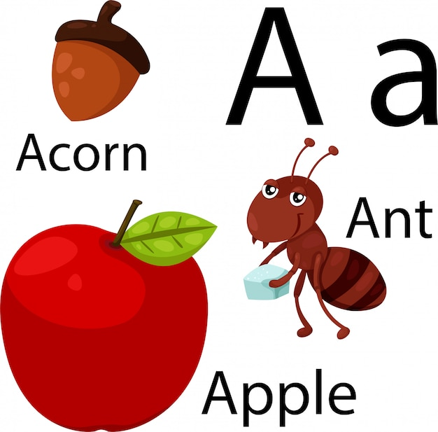 Illustrator of a alphabet Premium Vector