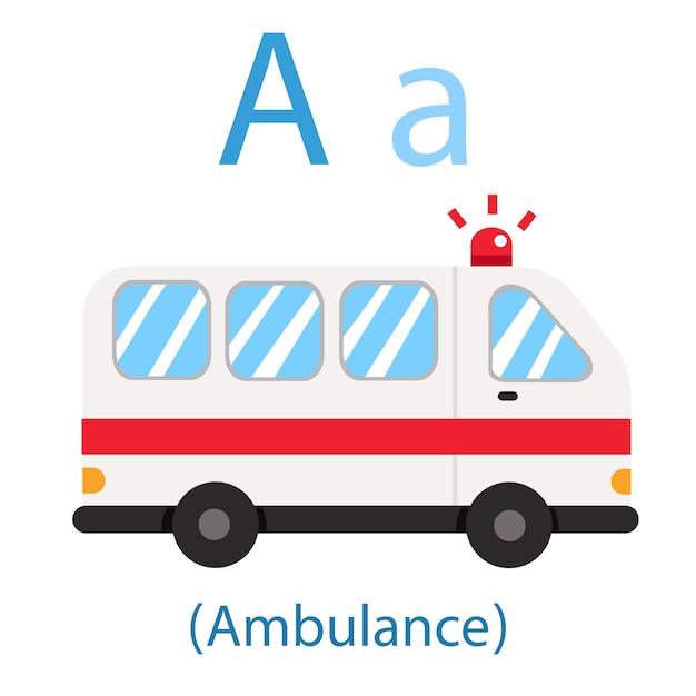 Illustrator of a for ambulance Premium Vector