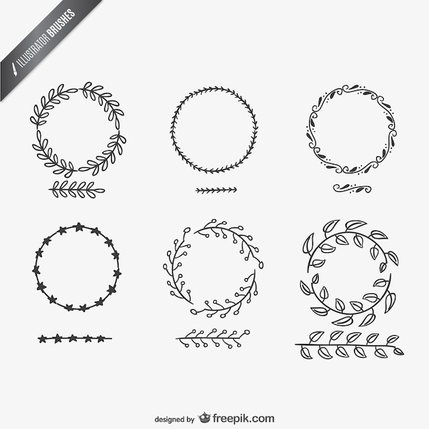 Illustrator brushes collection Vector   Free Download
