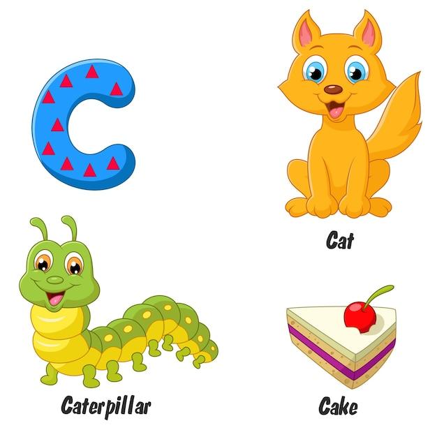 Illustrator of c alphabet Premium Vector