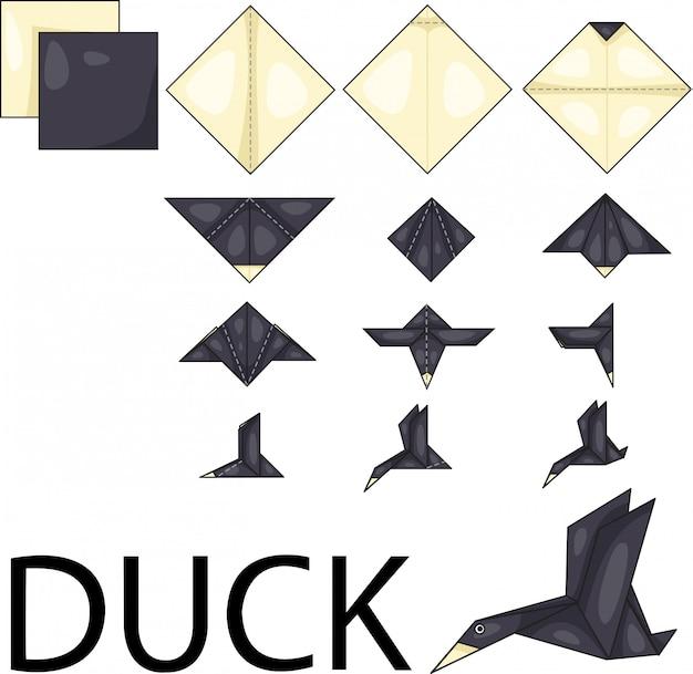 Illustrator of duck Premium Vector