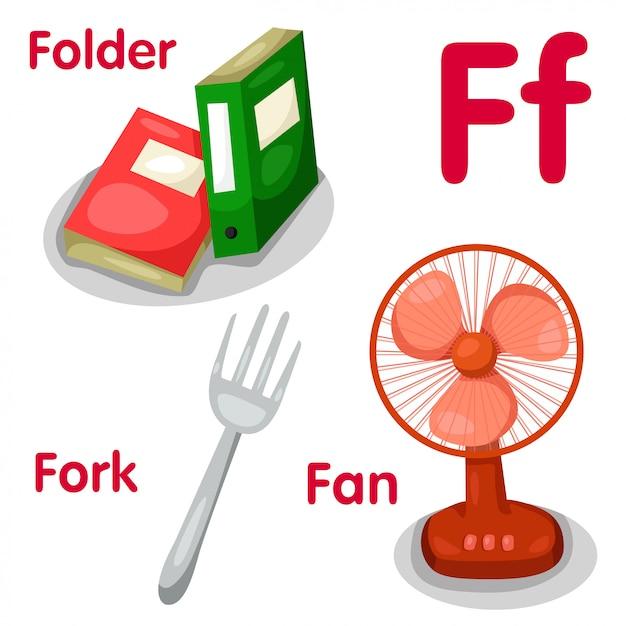 Illustrator of f alphabet Premium Vector