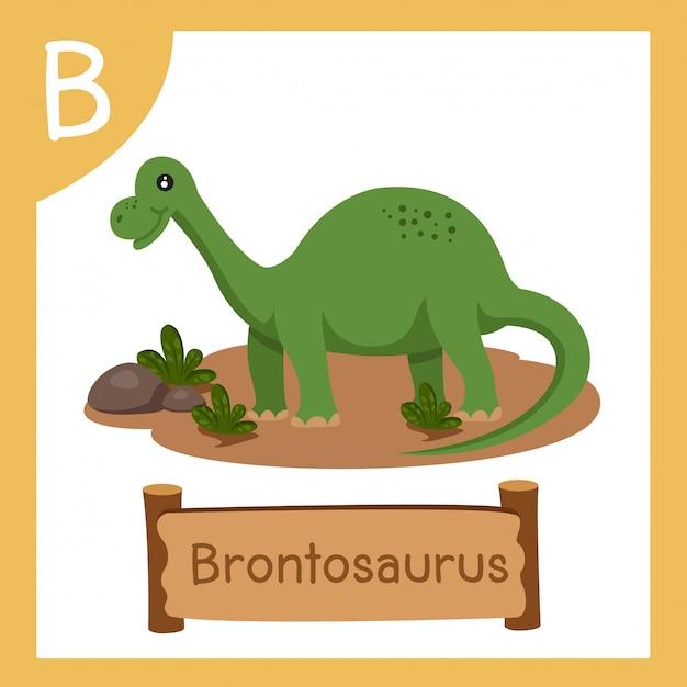 恐竜ブロントサウルスのbのイラストレーター Premiumベクター