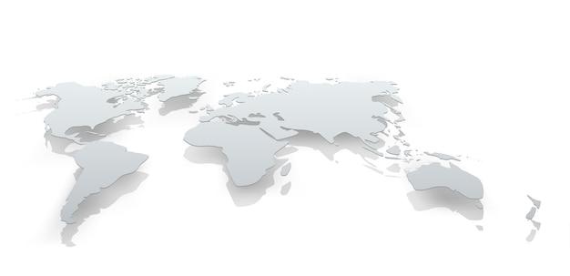 Изображение бумаги карты мира. концептуальная иллюстрация Premium векторы