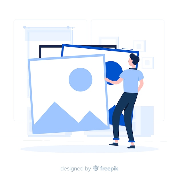 Images concept illustration Free Vector
