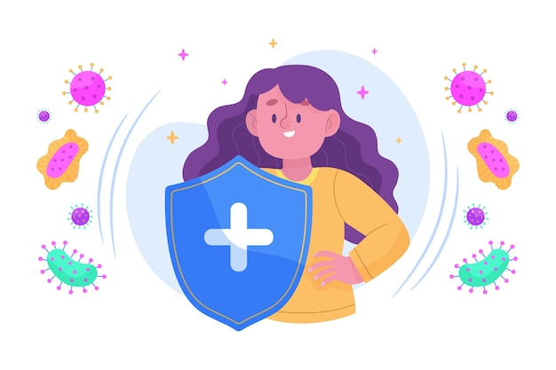 Immune system concept Free Vector