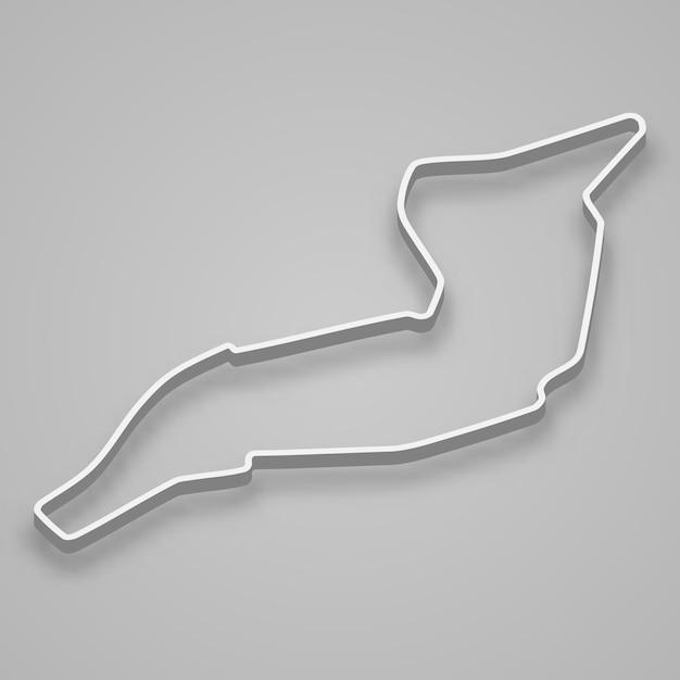 Imola circuit for motorsport and autosport. san marino grand prix race track. Premium Vector
