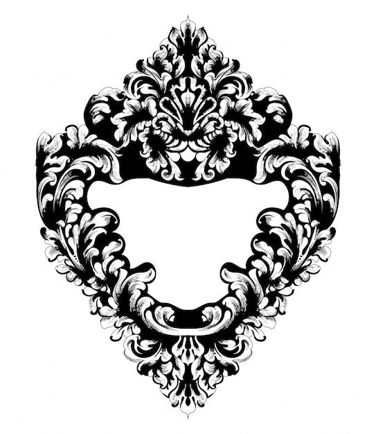 Imperial baroque mirror frame Premium Vector