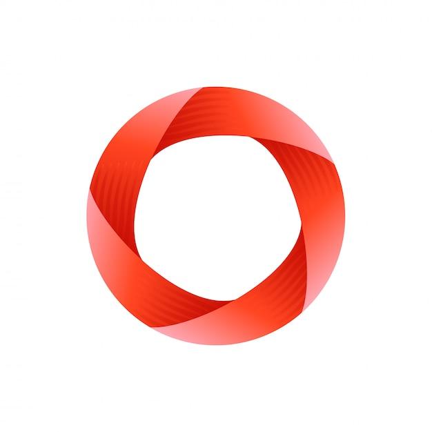 Impossible circle logo design Premium Vector