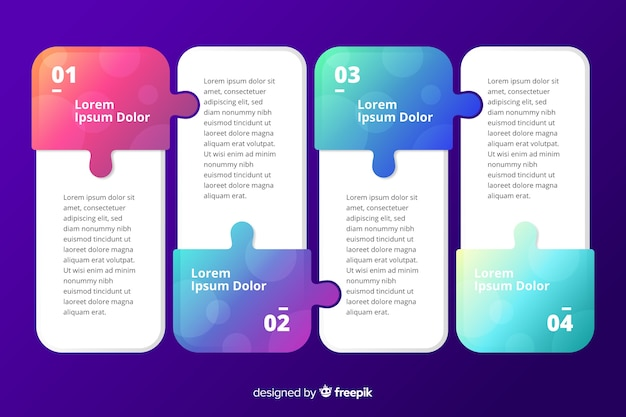 Improvement marketing steps collection template Free Vector