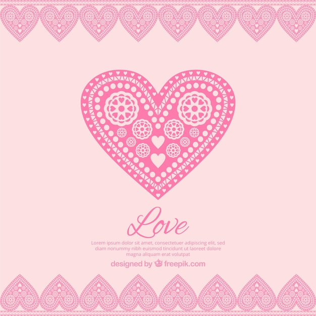 In love pink background