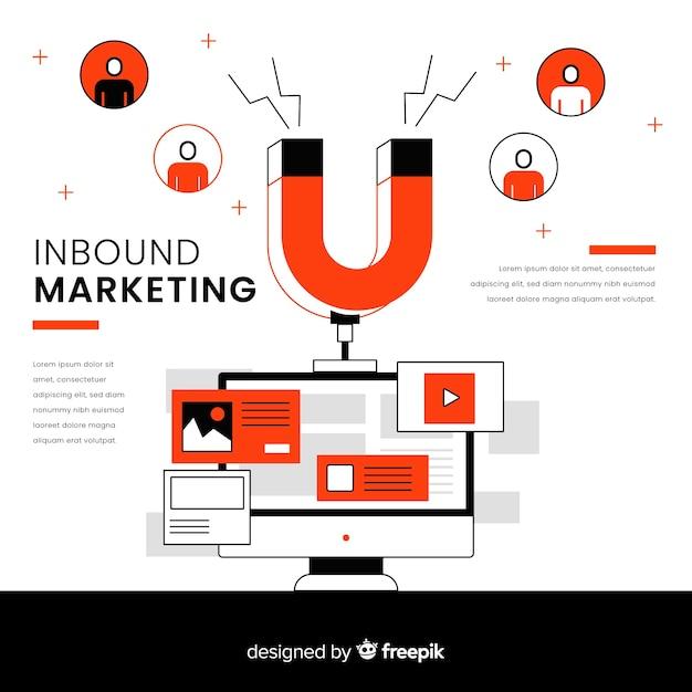 Inbound marketing background template Free Vector