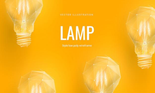 Лампа накаливания для запуска или образования или творческой идеи Premium векторы