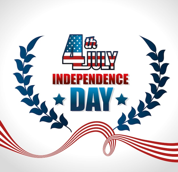 Independence of america design Premium Vector