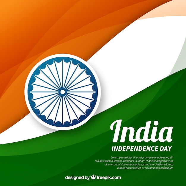 Independence background of india with flag