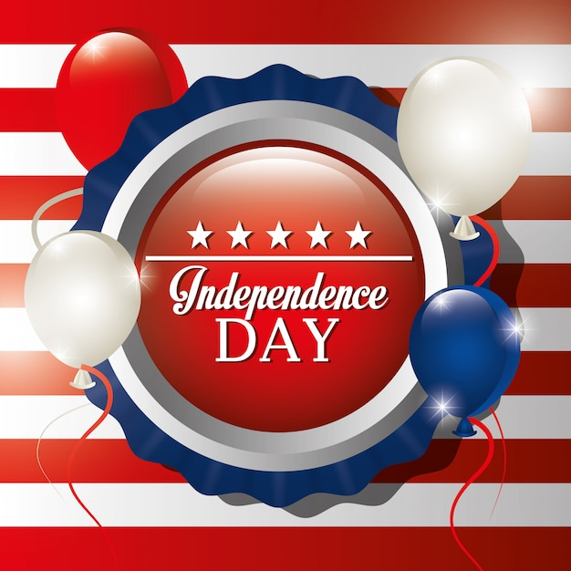 Independence day 4th july celebration in united states of america Free Vector