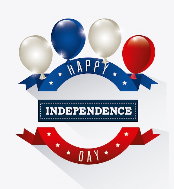 Independence day 4th july usa design Free Vector