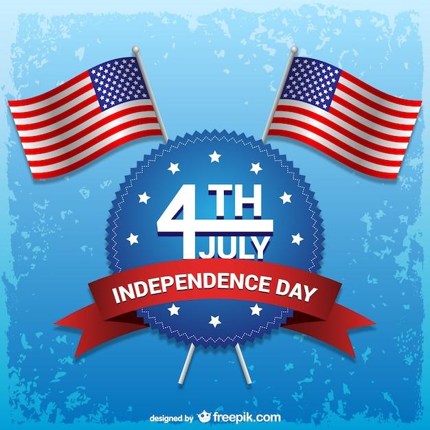 月ベクトルの独立記念日の4日 無料ベクター