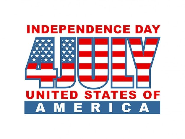 Independence day of america 4th of july Premium Vector