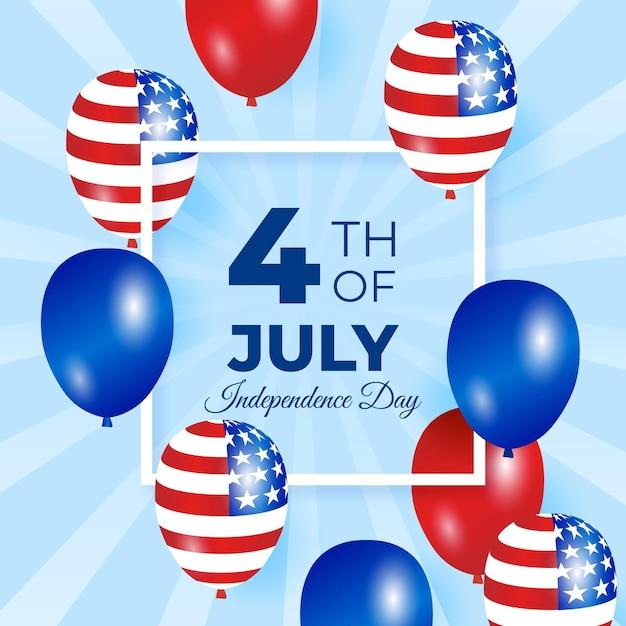 Disegno di sfondo festa dell'indipendenza Vettore gratuito