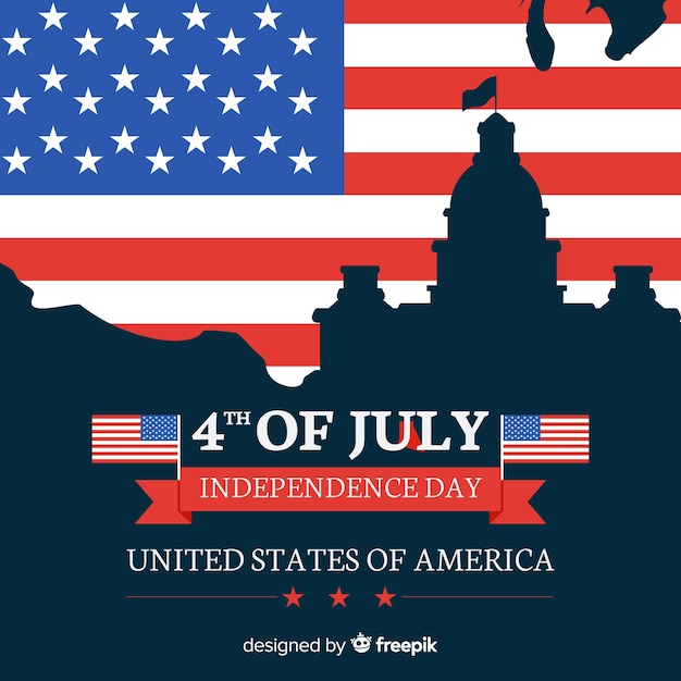 Independence day background Free Vector