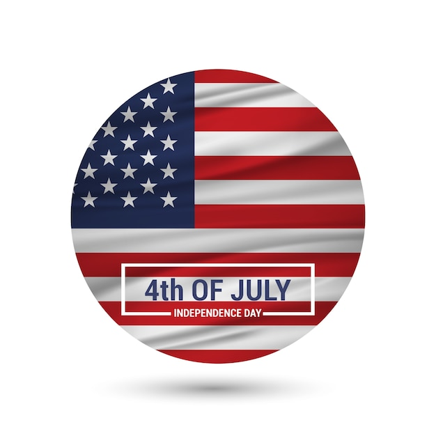 Independence day badge design Free Vector