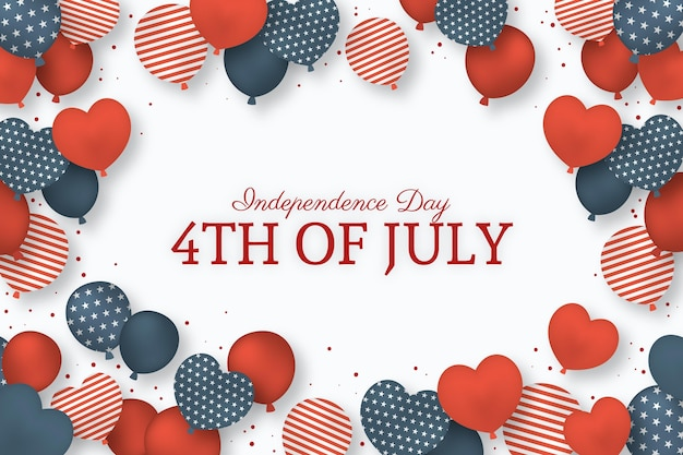 Independence day balloons background with flag Free Vector