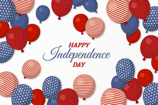 Independence day balloons background Free Vector