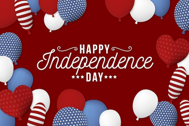 Independence day balloons wallpaper Free Vector
